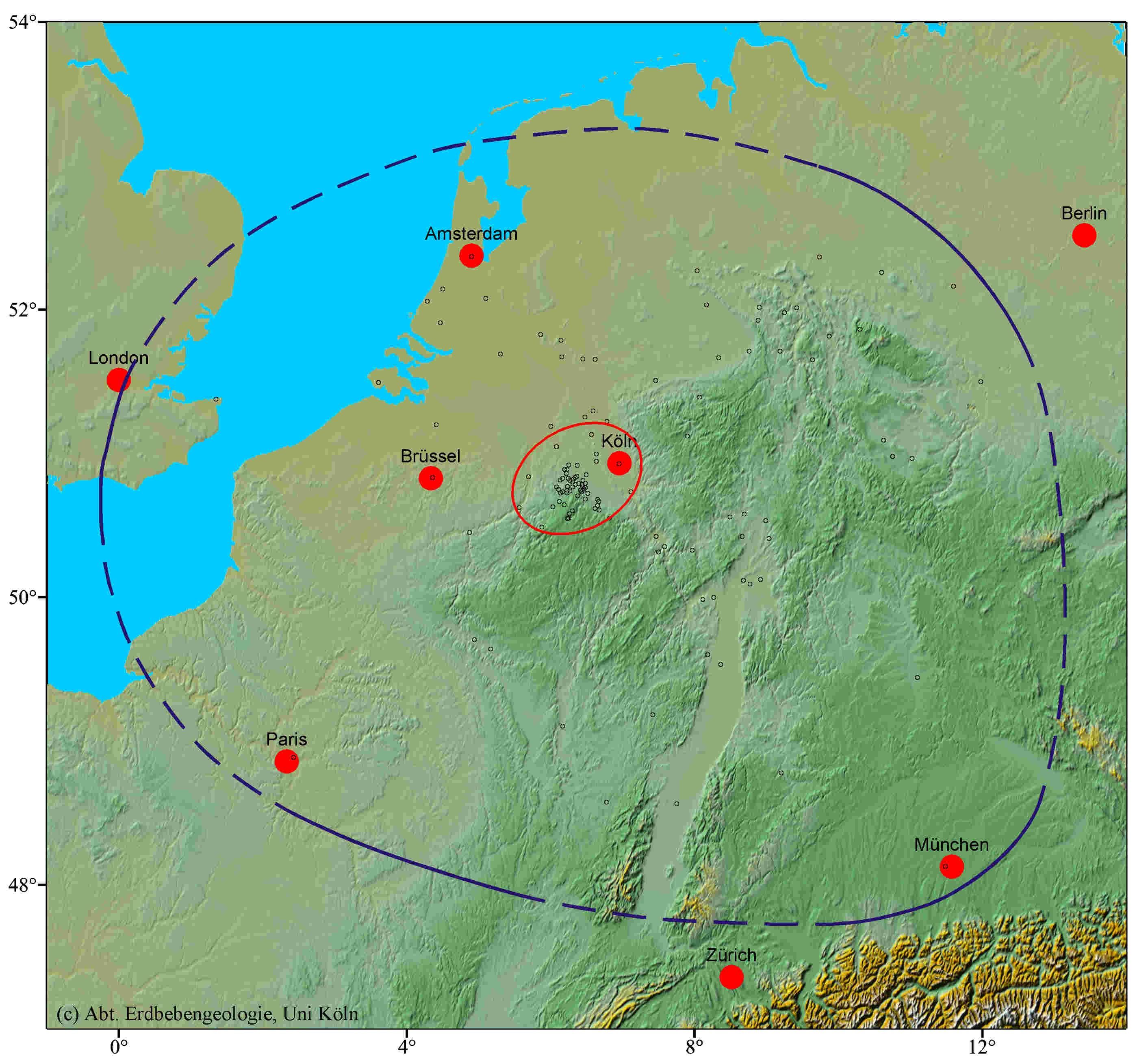Erdbeben Deutschland Karte.Bns Erdbebenstation Bensberg